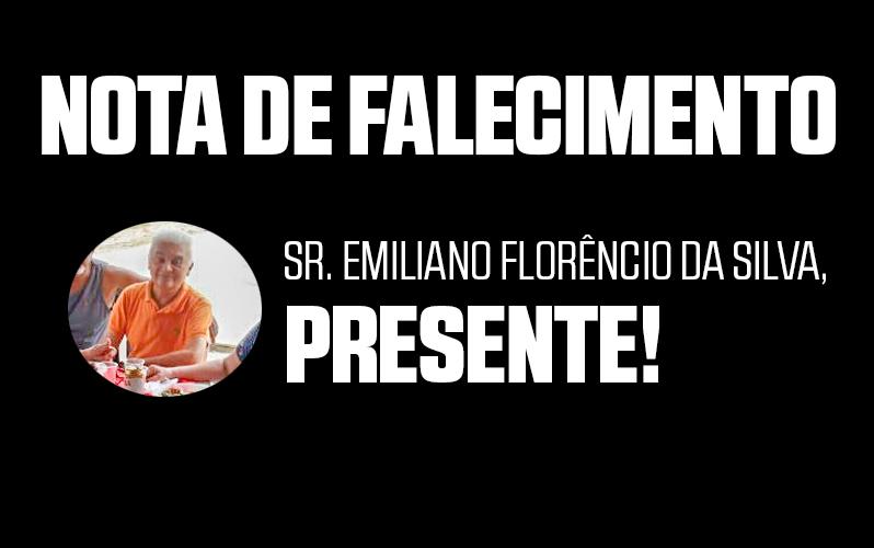 Nota de Falecimento:  Sr. Emiliano Florêncio da Silva (2º diretor financeiro da Aract)