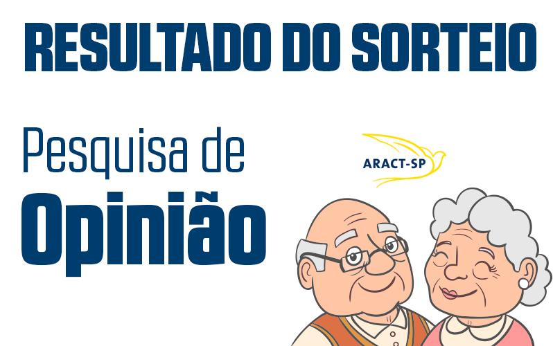 RESULTADO DO SORTEIO DA PESQUISA DE OPINIÃO
